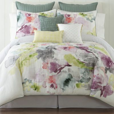jcp | JCPenney Home™ Watercolor Floral 4-pc. Comforter Set & Accessories