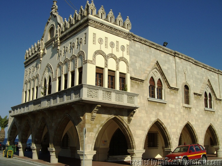 Rhodes Island Greece - New Town - The Administration Building