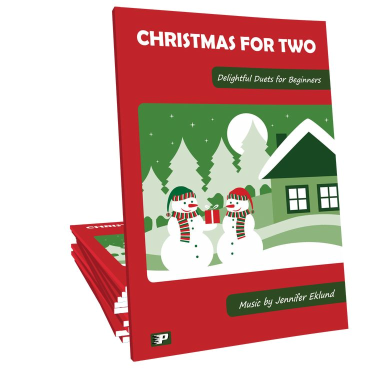 Christmas for Two: Christmas for Two features 10 easy Christmas duets for beginning level students to play with their teacher or any intermediate level pianist. Music composed by Jennifer Eklund.