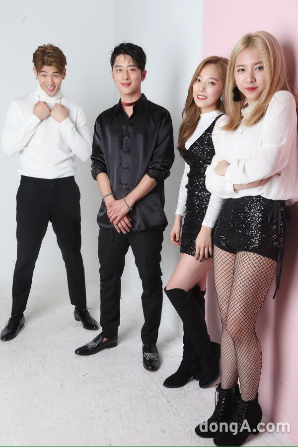 BM, J.Seph, Somin and Jiwoo