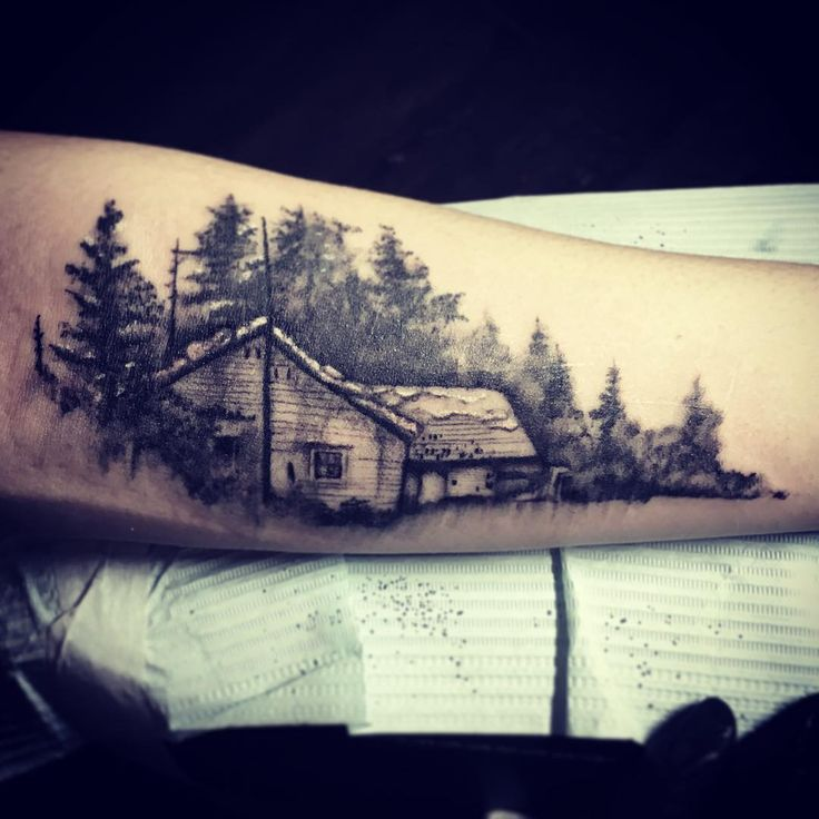 """#boniver Bon Iver #album cover for Pearson! This #tattoo was fun!!! #AWNS #brooklyn #clintonhill"""