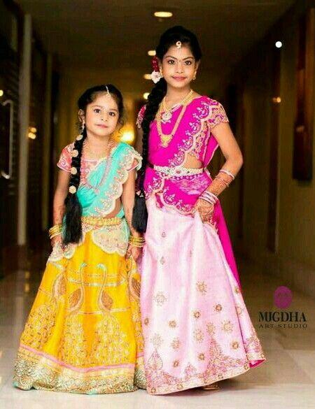 CUte girls in half saree.......