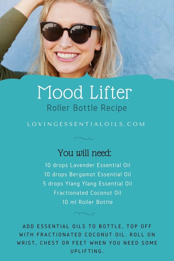 Mood Lifter Essential Oils Roller Bottle Recipe   Lavender Oil   Bergamot Oil   Ylang Ylang Oil   Rollerball Remedy   EO for Depression & Sadness