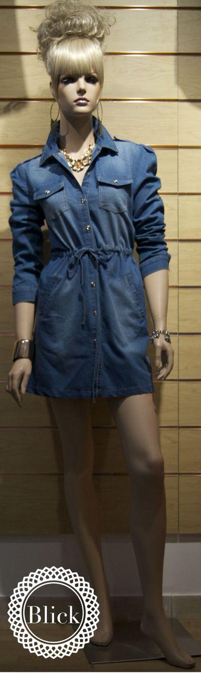 Vestido en Jean #americano  #blickmoda