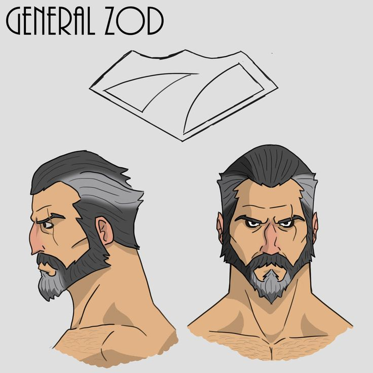 General Zod facial study along with the lame emblem I drew up. I always thought it'd be cool if the kryptonians had different shaped chest emblems that would show their social status. Zod wears the...