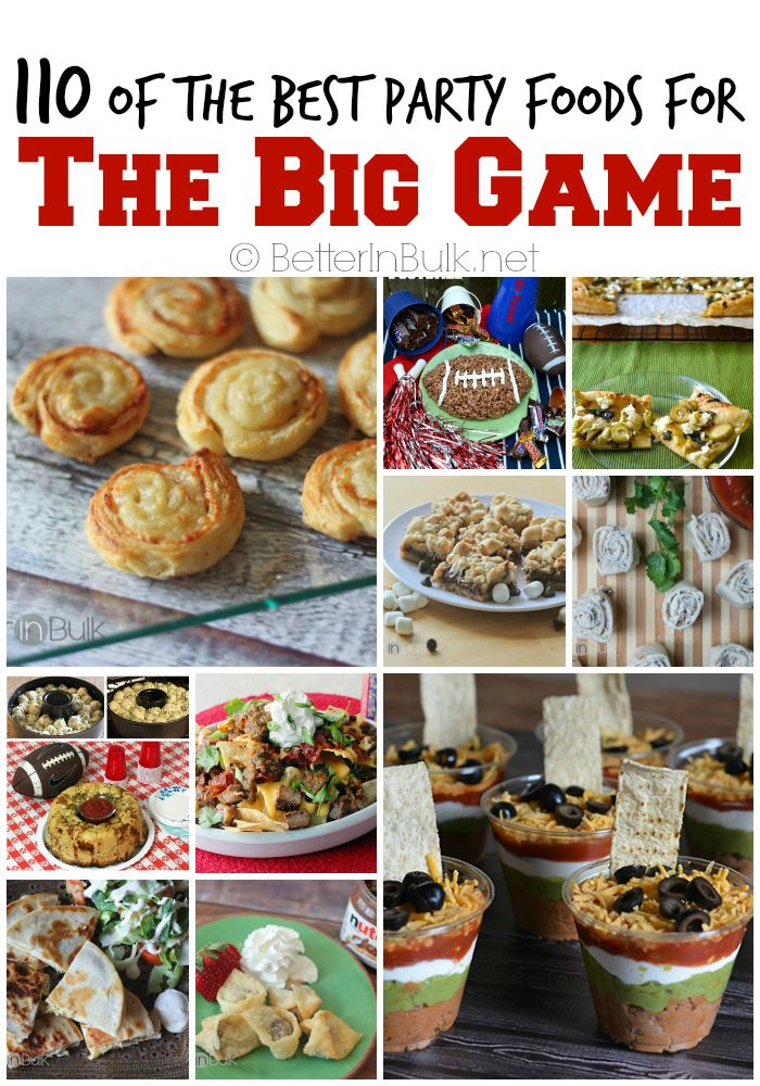 Enjoy 110 of the best party foods around. From salty to sweet, healthy to, well...indulgent. Perfect for the Big Game.