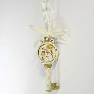 Key ribbon Girl First Communion 10cm | online sales on HOLYART.co.uk