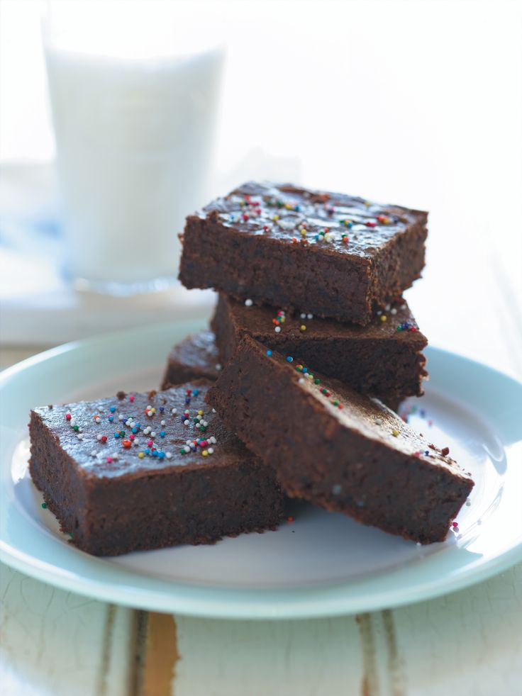 Would you believe these brownies contain spinach and blueberries?! Learn some of the Sneaky Chef's other tricks to get kids to eat fruits & veggies here: http://www.everydayhealth.com/kids-health/the-sneaky-chefs-seven-tips-to-get-kids-eating-healthy.aspx