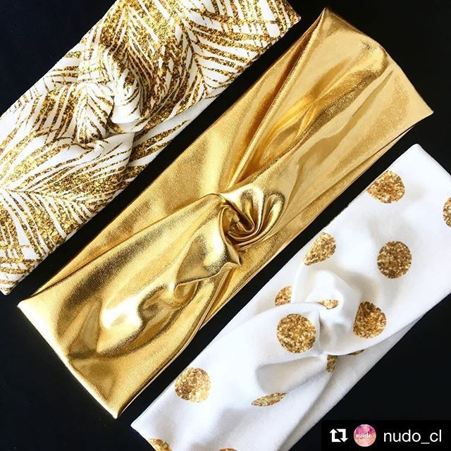 @nudo_cl is making gorgeous headbands, I really like them! ✨ Gold palm leaves print from my Gold glitter tropical collection. Thank you for choosing #mirabelleprint design! 💛