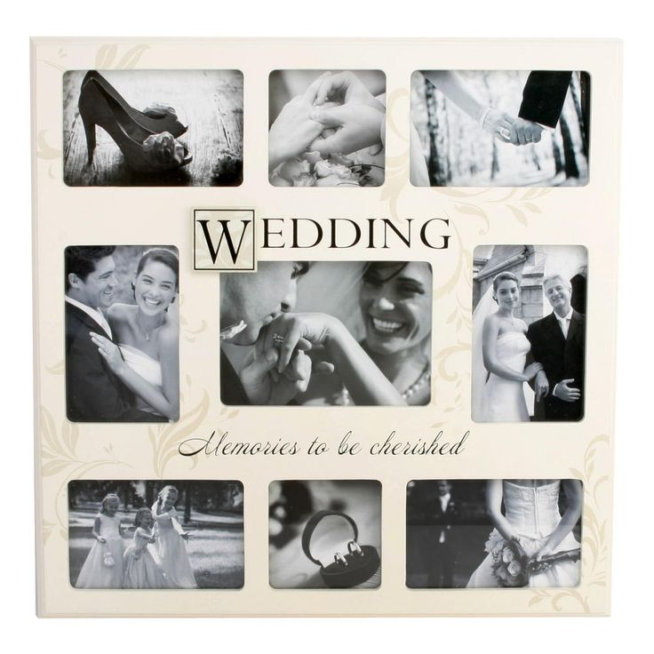 Wedding Memories Large Collage Photo Frame 9 X  Pictures