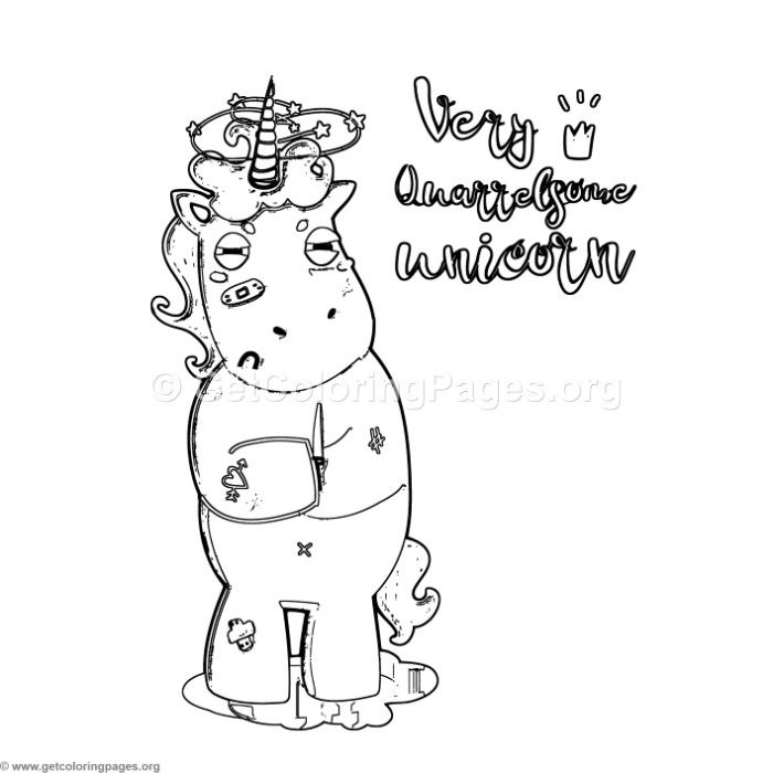 Free Instant Download Very Quarrelsome Unicorn Coloring ...
