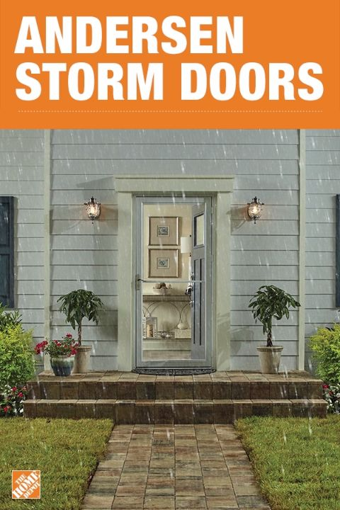 Open your home to sunshine and beautiful weather by installing a storm door. The Andersen 2500 Series Self-Storing storm door has weather stripping to reduce drafts and has a retractable insect screen for added protection against pesky critters. It's even easy to install and only requires basic skills and tools. Click to shop Andersen storm doors.