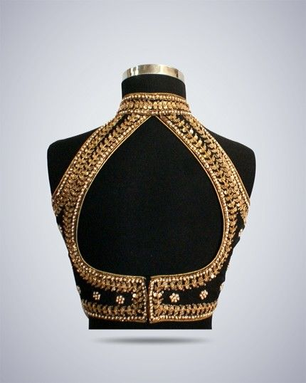 Black and gold is classic...Saree blouse