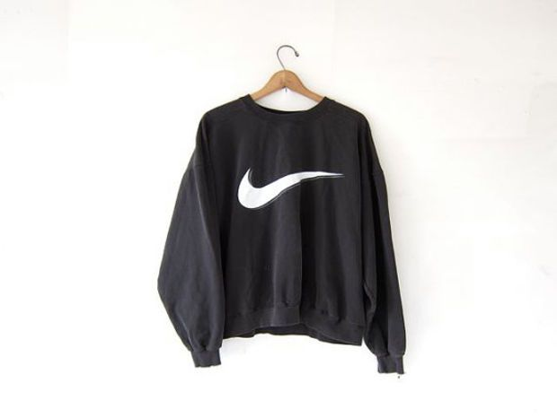 nike black and white sweater