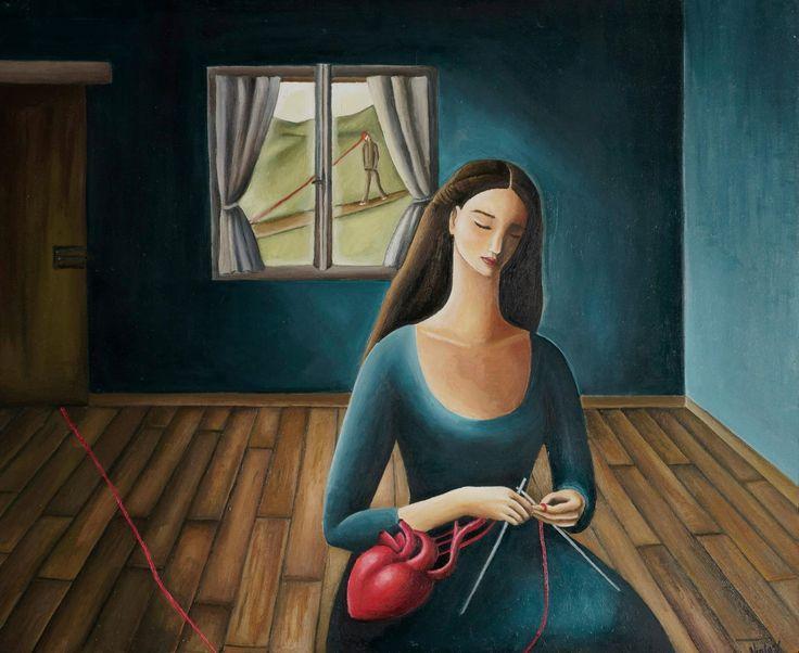 Viola Vistosu, Admovere-Olio su tavola (Oil on wood) 2015