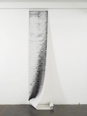 Knut Henrik Henriksen, Untitled, 2011 Woodchip wallpaper, charcoal dust, variable dimensions Courtesy the artist and Hollybush Gardens, London