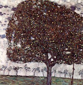 Gustav Klimt Elma Ağacı II / Apple Tree II 1916. Tuval üzerine yağlıboya. 80 x 80 cm. The Österreichische Galerie Belvedere, Viyana.