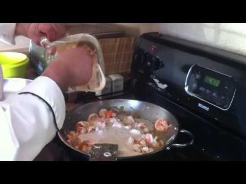 Como Hacer Camarones ala crema de chipotle - YouTube
