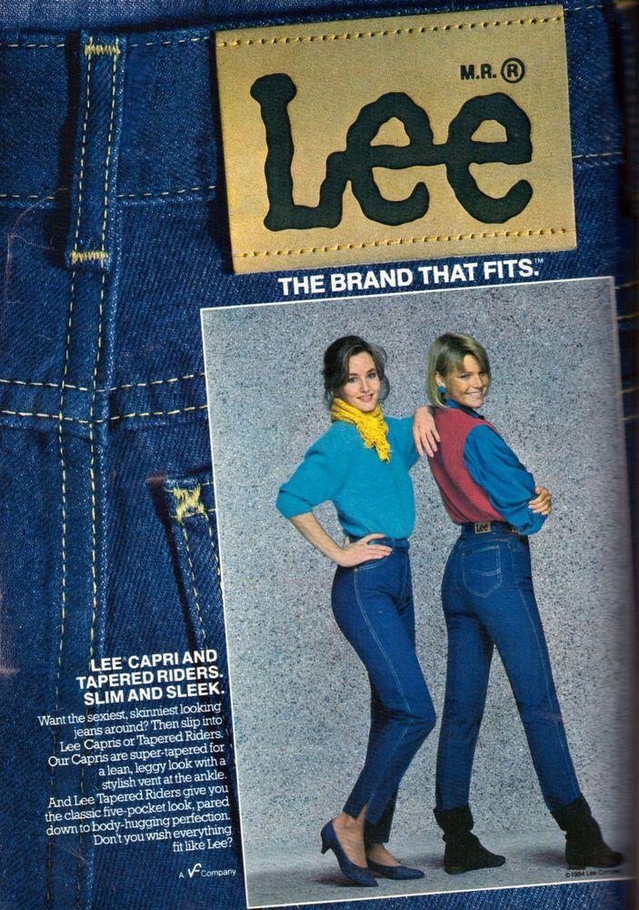 fa86877b 1984 Lee Jeans Clothing Apparel Retro Print Advertisement Ad Vintage VTG  80s #Lee