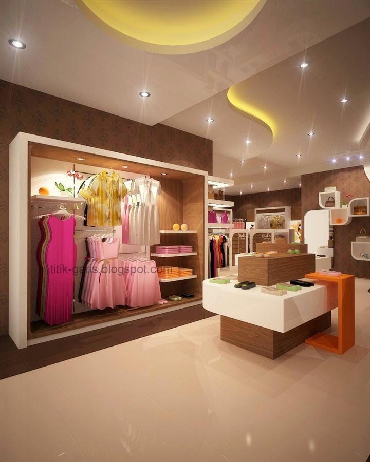 Interior Butik | Desain butik dengan konsep modern minimalis, dengan luas bangunan 30 m2.