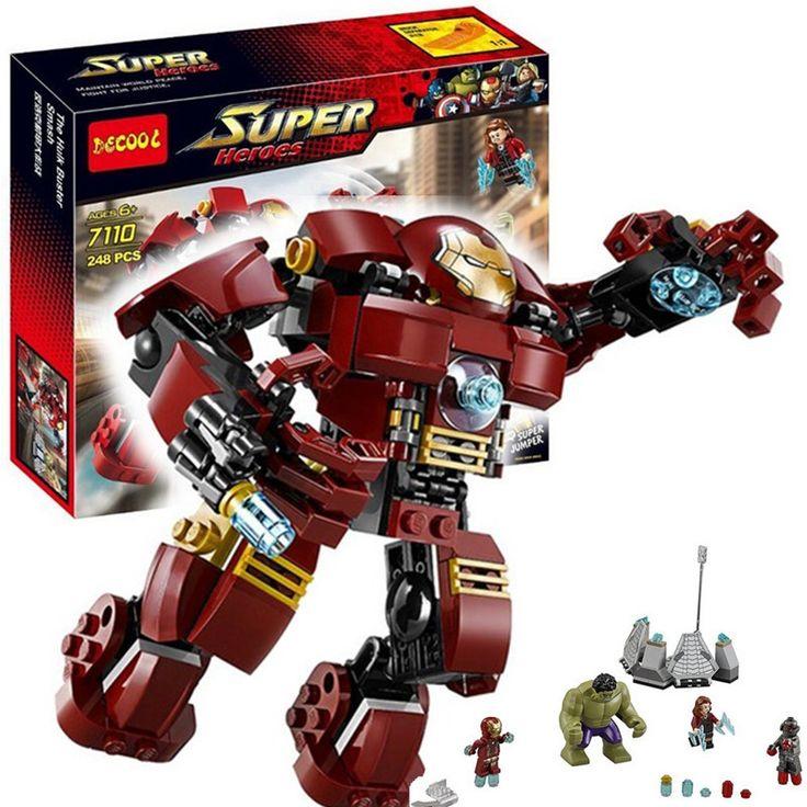 $17.49 (Buy here: https://alitems.com/g/1e8d114494ebda23ff8b16525dc3e8/?i=5&ulp=https%3A%2F%2Fwww.aliexpress.com%2Fitem%2F2016-New-LEPIN-Star-Wars-Blocks-Han-Solo-Ugnaught-Carbon-Freezing-Chamber-Buildable-Figures-Compatible-Legoelieds%2F32662215774.html ) Decool Marvel Avengers Building Block Super Heroes Minifigures Iron Man Hulk Buster Smash Set Bricks Toys Compatible Legoe 76031 for just $17.49