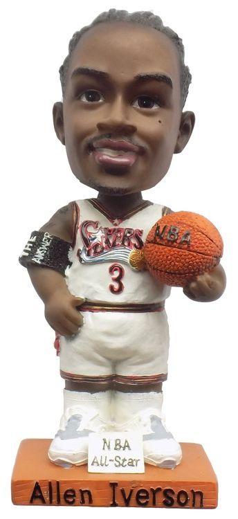 Allen Iverson Philadelphia 76ers White Jersey Bobblehead