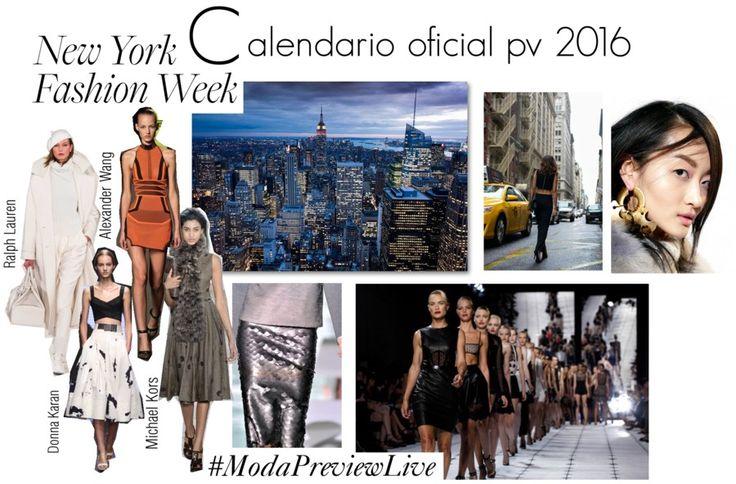Moda Preview   Calendario Oficial de New York Fashion Week PV 2016   http://www.modapreviewinternational.com