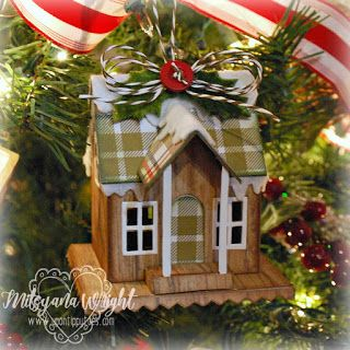 Up On Tippy Toes: Winter Cottage Christmas Ornament