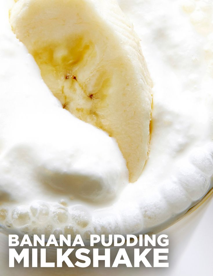 Ditch the pudding spoon and grab a straw because you're going to love sucking down this delish Banana Pudding Milkshake, a vanilla shake studded with vanilla pudding, wafer cookies and bananas.