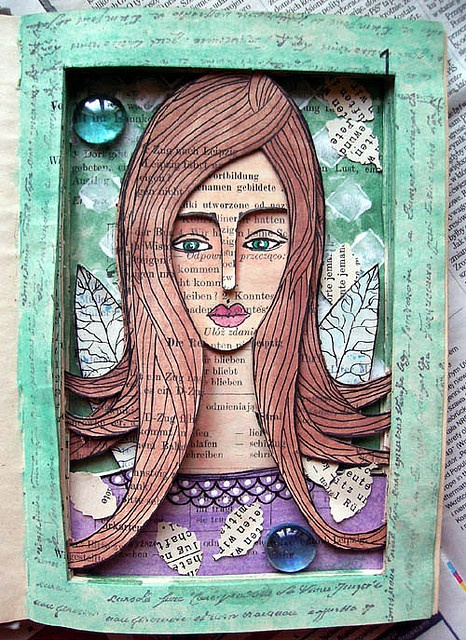 altered book She - my favorite