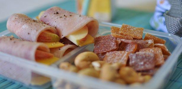 Healthy ham wraps