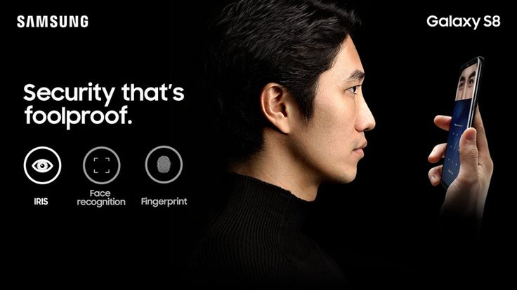 Iris scan The patterns in your irises are unique to you and are virtually impossible to replicate, meaning iris authentication is one of the safest ways to keep your phone locked and its contents private.http://www.samsung.com/in/smartphones/galaxy-s8