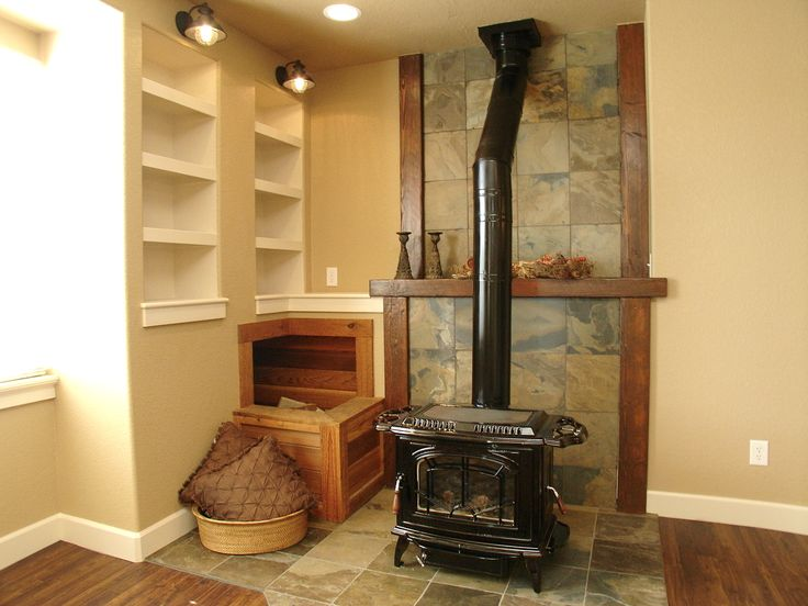 wood stove basement   Basement Wood Stove   KYLA TYLER - 77 Best Images About Basement On Pinterest Slate Bathroom