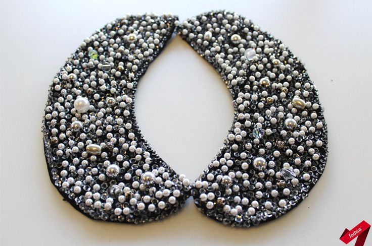 Students were instructed to create and construct a fully functional collar, separate from the garment. This collar had to be beaded using a variety of self-researched beading techniques.