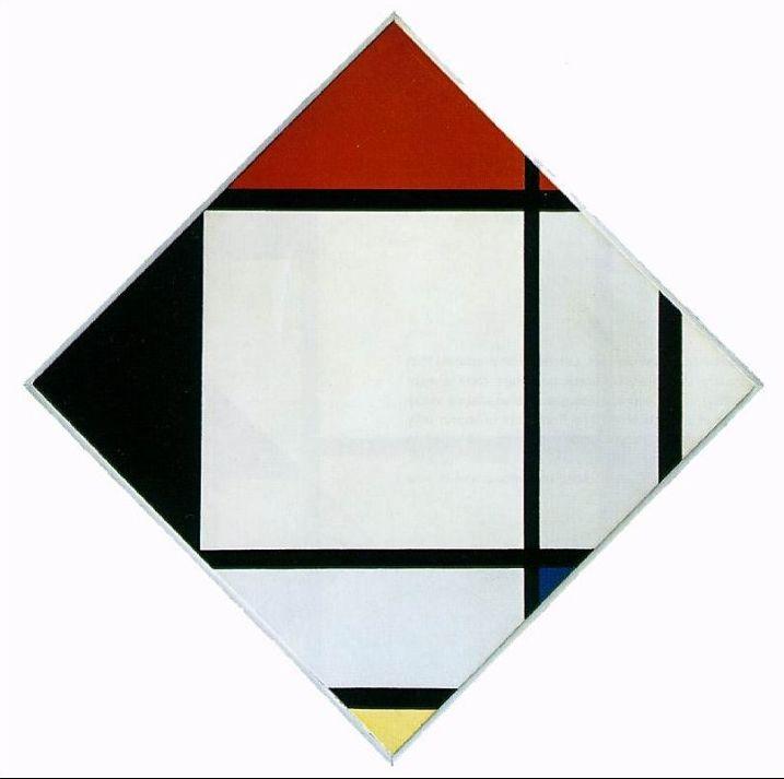 Piet Mondrian - Lozenghe composizione - 1925