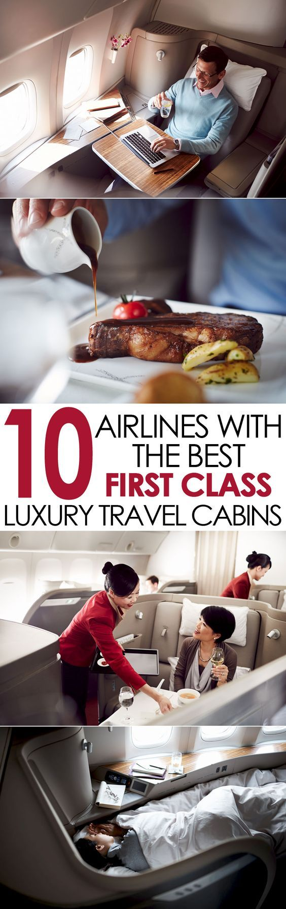 10 airlines with the best first class luxury travel cabins. Traveling can be ... #FirstClassTravel #travel #FirstClass #TravelLuxury #FirstClassFlights #FirstClassSeats #FirstClassTickets #airlines