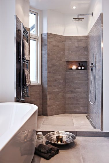Shower Corner with Natural Light