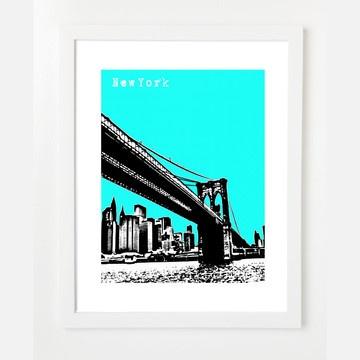 Brooklyn Skyline Print 8.5x11 by BirdAve