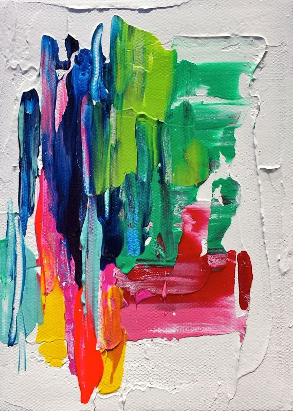 #Abstract #Art - Gorgeous Abstract Impasto #Acrylic Painting 5 x 7 by lyricstomysong. http://www.ablankcanvas.net