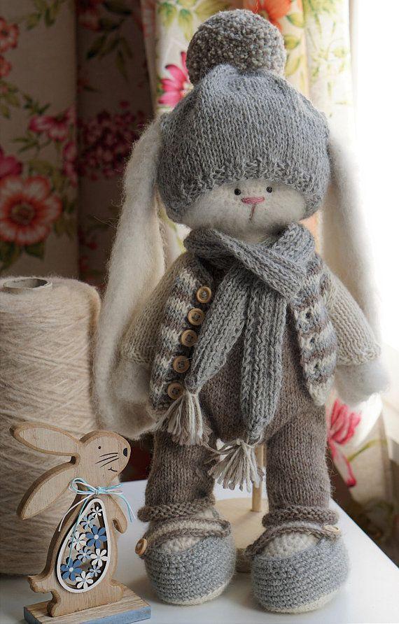 Kit Fluffy Bunny Boy Alpaca Garens Amigurumi Haak Bunny Haken