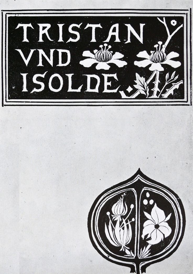 aubrey beardsley book cover - Tristan and Isolde