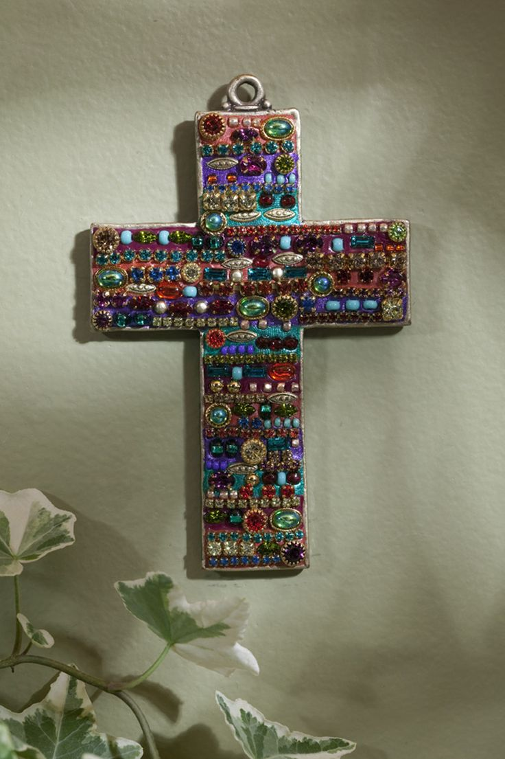 Bright Gemstone Wall Cross – Celebrate Faith