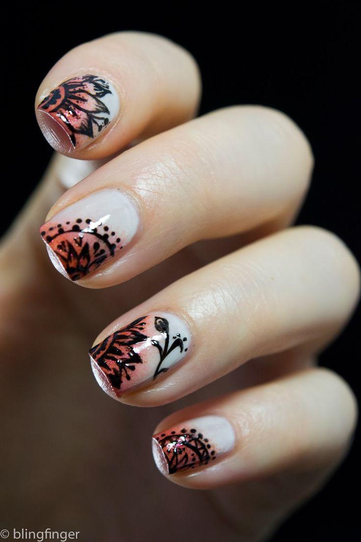 40 best MEHENDI PATTERN images on Pinterest   Nail design, Nail ...