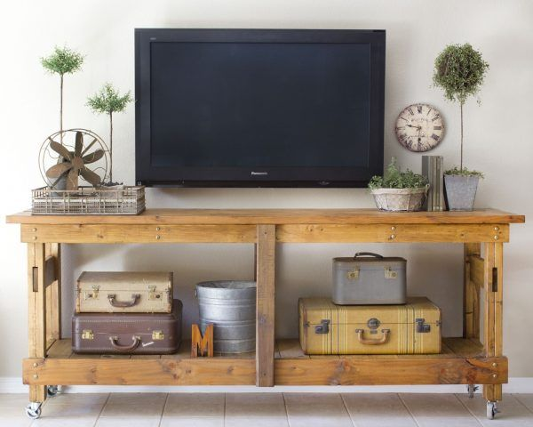 Remodelaholic | 95 Ways to Hide or Decorate Around the TV, Electronics, and Cords