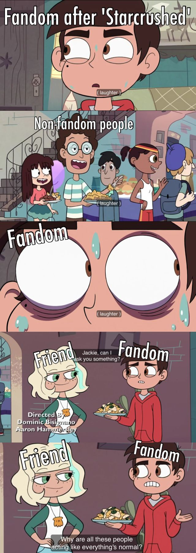 Why are all these people acting like everything's normal?  Star vs the Forces of Evil Credit @livieblue