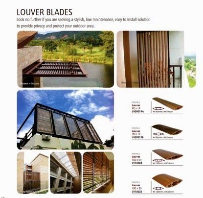 Fashionable Biowood composite wood louvers