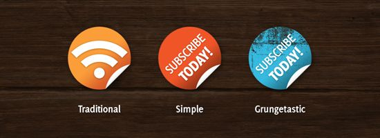 Nice and Simple Subscribe Badges for your Blog