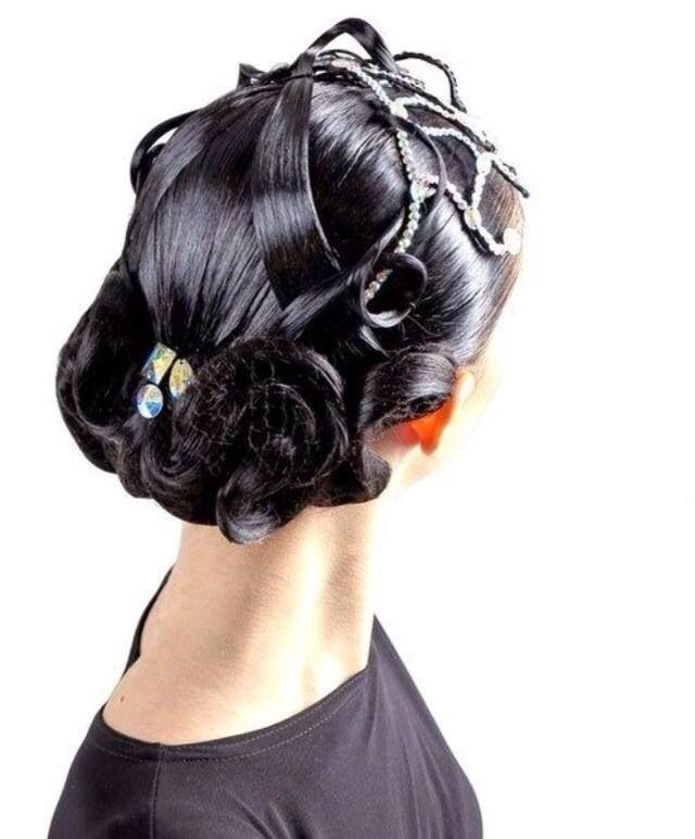 Gorgeous dancesport hairstyle