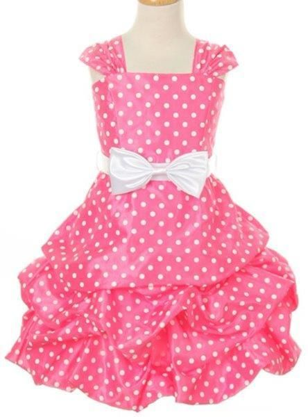 Girls' Pink Guava Party Dress with Polka Dots  #instagram #kidsclothes #canada #fashion #clothes #shopping #Oasislync #shoppingonline #canadaonline #onlinestore