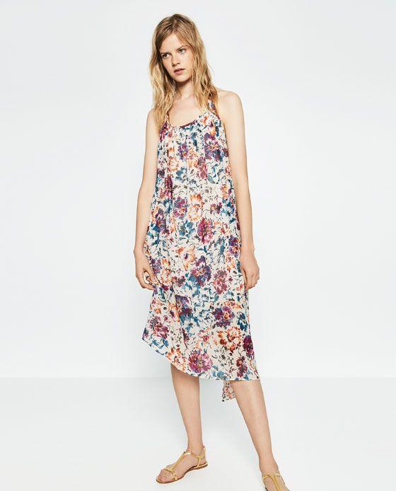 ZARA - SALE - LONG PRINTED DRESS